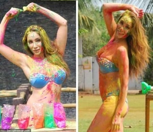 Bigg Boss contestant Sofia Hayat's Wet Holi PhotoShoot
