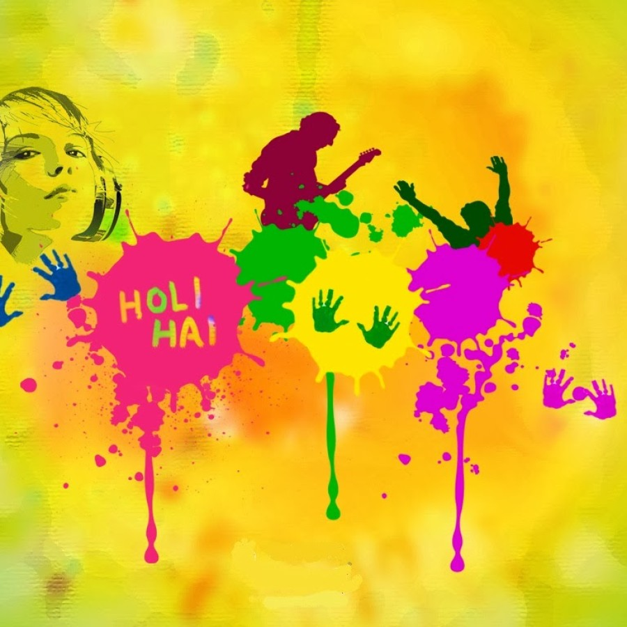 Happy Holi 2014 Lovely HD Wallpapers and Images colorful holi in music