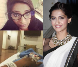 Sonam kapoor suffering from swine flu flies off to mumbai for treatment