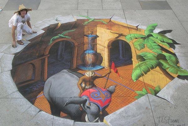 indian 3d street art