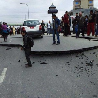 First photos from Kathmandu of 7.5 magnitude.