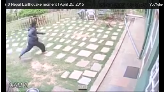 Live Nepal Earthquake Videos from one of the security CCTV Camera