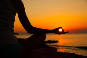 yoga in sunset image