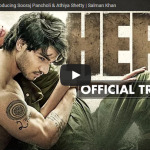 Trailer of Upcoming Movie 'Hero' featuring Sooraj Pancholi and Athiya Shetty released