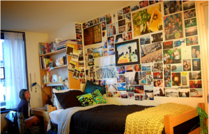 photographs on wall