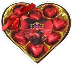 heart shaped valentine day gift