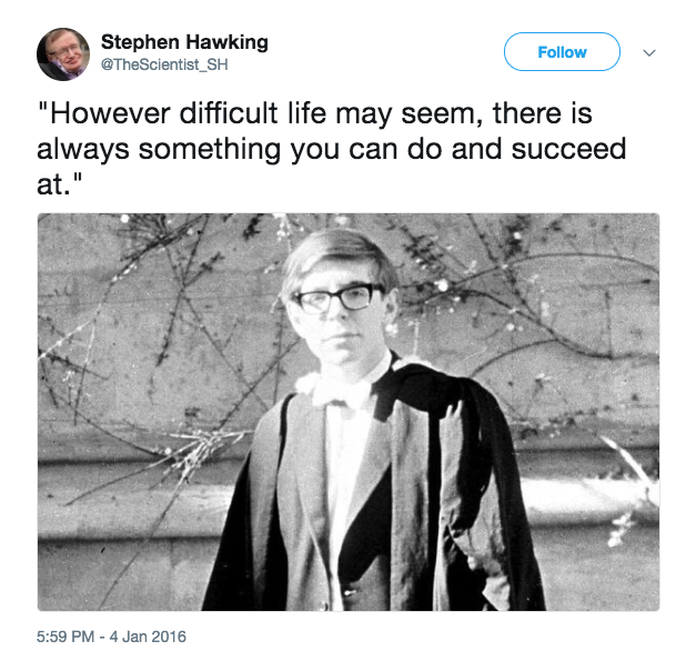 Stephen Hawking Images from twitter