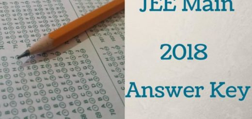JEE Main 2018 Answer Key