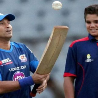 arjun and sachin tendulkar images